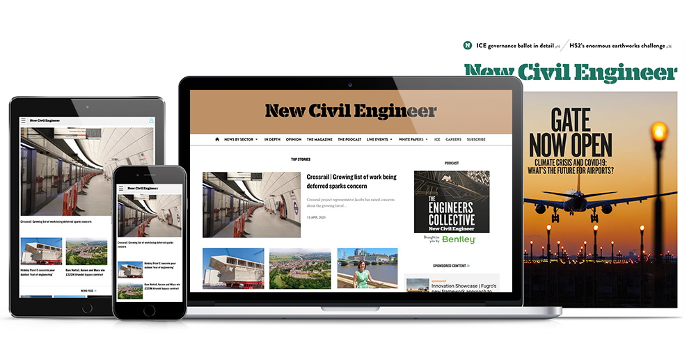 Full range of New Civil Engineer magazine products